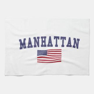 Manhattan US Flag Kitchen Towels