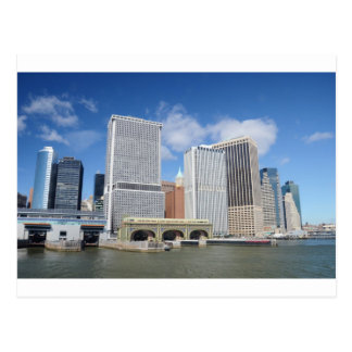 Manhattan viewed from the water. postcard