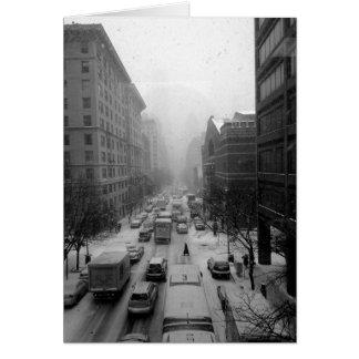Manhattan Winter Card