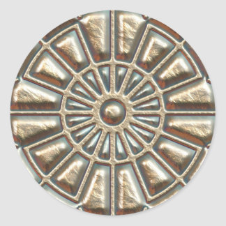Manhole Cover Classic Round Sticker