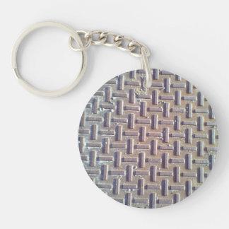 Manhole cover keychains
