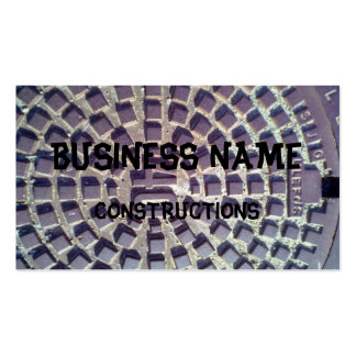 Manhole cover number 40 pack of standard business cards