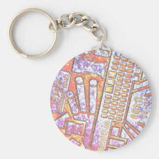 Manhole Cover Posterized Basic Round Button Keychain