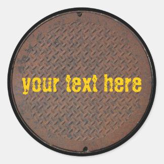 Manhole Cover Series Classic Round Sticker