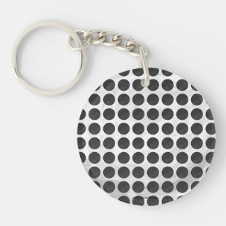 Manhole Covers Black Marble Keychains