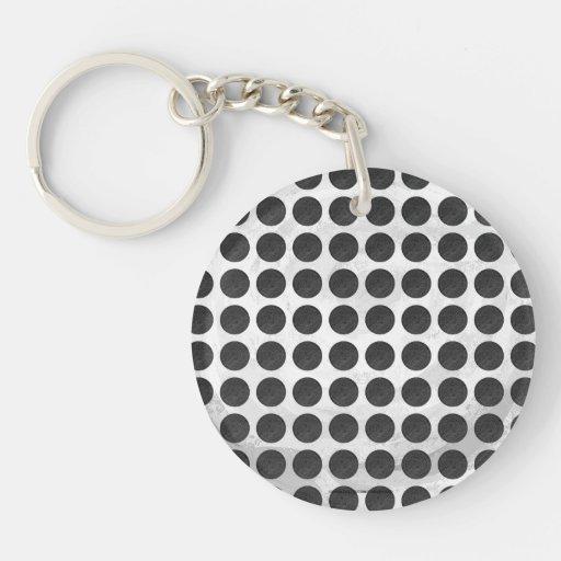 Manhole Covers Black Marble Keychains
