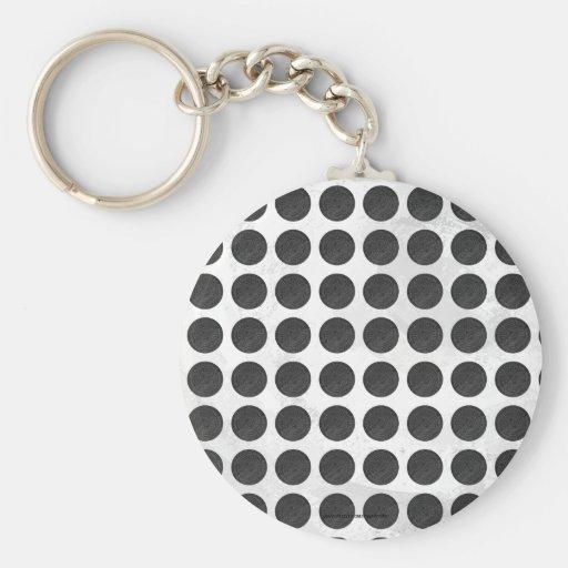 Manhole Covers Black Marble Key Chain