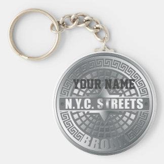 Manhole Covers Bronx Basic Round Button Keychain