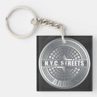 Manhole Covers Bronx Square Acrylic Keychain