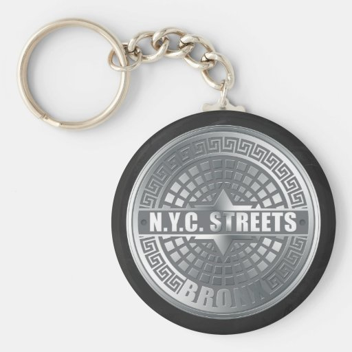 Manhole Covers Bronx Keychains