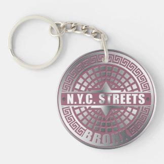 Manhole Covers Bronx Single-Sided Round Acrylic Keychain