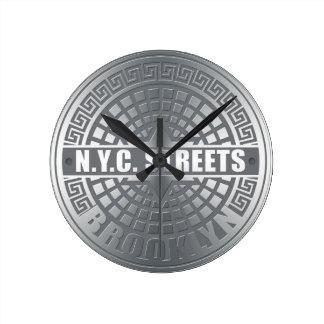 Manhole Covers Brooklyn Round Clock