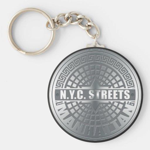 Manhole Covers Manhattan Key Chain