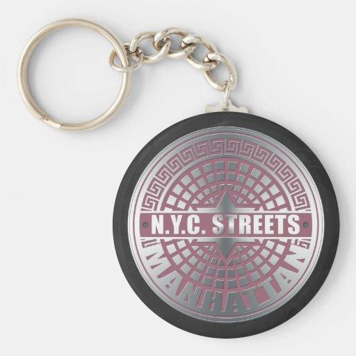 Manhole Covers Manhattan Key Chains