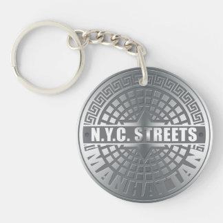 Manhole Covers Manhattan Single-Sided Round Acrylic Keychain