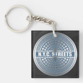 Manhole Covers NYC Keychain