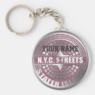 Manhole Covers Staten Island Basic Round Button Keychain
