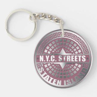 Manhole Covers Staten Island Acrylic Keychain