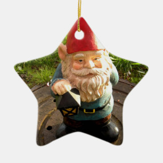 Manhole Gnome Ceramic Star Ornament
