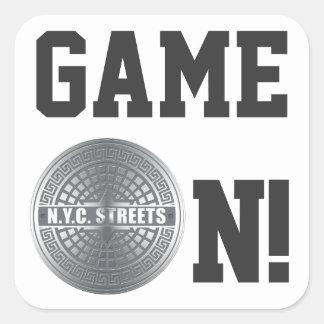 Manhole NYC Square Sticker