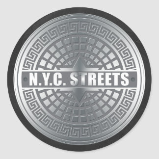 Manhole NYC Sticker