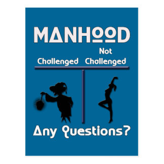 Manhood Postcard