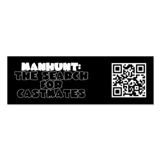 Manhunt: The Search for Castmates Mini Business Card