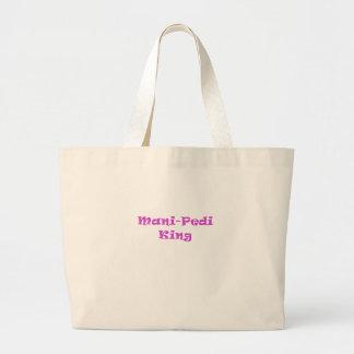 Mani Pedi King Large Tote Bag