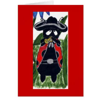 Mani the Mariachi Ladybug Card