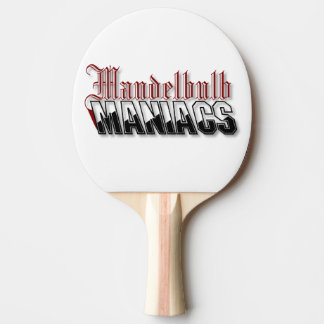 Maniac Pong Paddle, Red Rubber Back Ping Pong Paddle