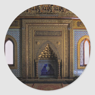 Manial Palace Mosque Cairo Classic Round Sticker