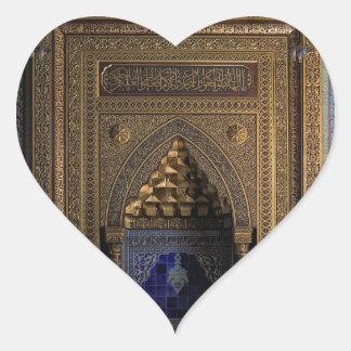 Manial Palace Mosque Cairo Heart Sticker