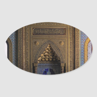Manial Palace Mosque Cairo Oval Sticker