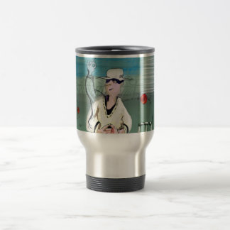 Manic cricketer travel mug