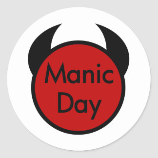 Manic Day Classic Round Sticker