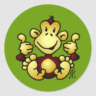 Manic Monkey Classic Round Sticker