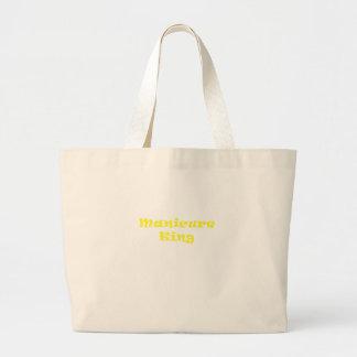 Manicure King Large Tote Bag