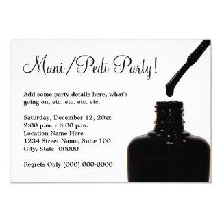Manicure Pedicure Party Card