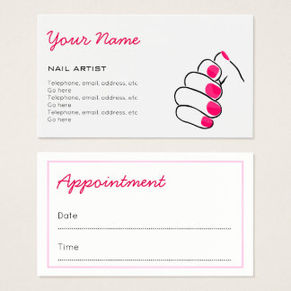 Manicurist Appointment Business Cards