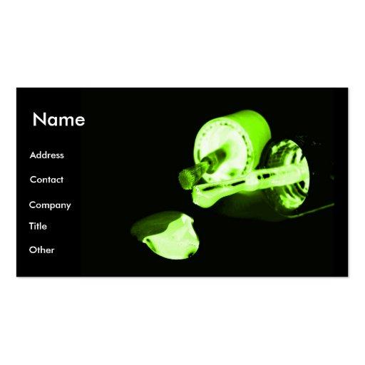 Manicurist In Black & Green Business Card