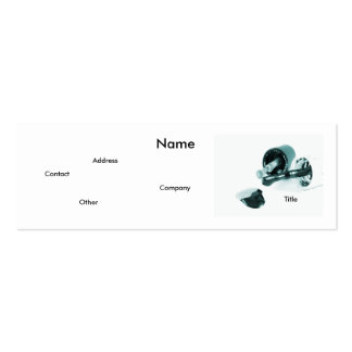 Manicurist In Black & White Pack Of Skinny Business Cards