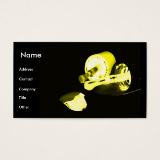 Manicurist In Black & Yellow Business Card