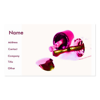 Manicurist In Pink Business Card