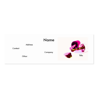 Manicurist In Pink Mini Business Card