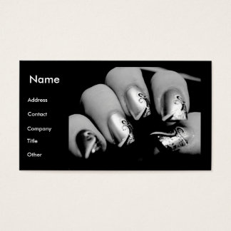 Manicurist Nails In Black & White Business Card