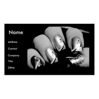 Manicurist Nails In Black & White Pack Of Standard Business Cards