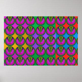 Manie de couleur de MERVEILLE : EMBLÈME DE Poster