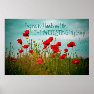 Manifesting glory bible verse Isaiah 60:1-2 poster