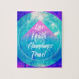 Manifesting Love Health Abundance Travel series Jigsaw Puzzle