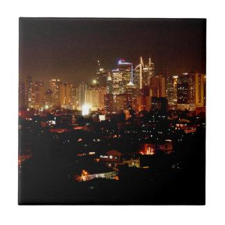 Manila at Night Tile